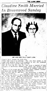 Feb. 23 , 1969 Billy Bart Long & Claudine Smith Wedding - Newspapers.com