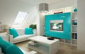 Egal ob im wohnzimmer, schlafzimmer oder im bad: Wandfarbe Turkis Und Deko Fur Eine Aussergewohliche Inneneinrichtung Kleine Wohnung Design Blaue Wohnzimmer Wohnungsplanung