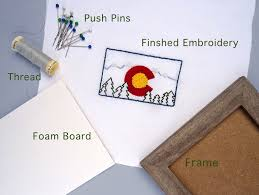 how to frame embroidery