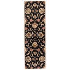 black and tan area rug handmade fl black tan area rug x black brown tan area