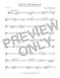 beauty and the beast sheet music beauty and the beast saxophone sheet music by alan menken tenor sax