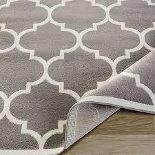 2 of 4 light gray ivory area rug carpet moroccan trellis 8x10 contemporary lattice rug