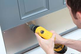 add a kick plate to dress up the front door