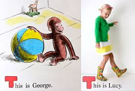 of course it was hard to narrow down which curious george story to draw from since we read these books so frequently and each have our favorites