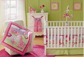 new pink giraffe flowers embroidered girl baby cot crib bedding set including comforter crib sheet pers bedskirt 4 items comforter sets for kids