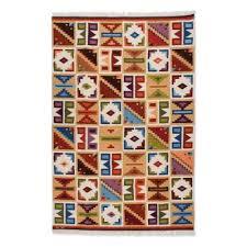 geometric wool area rug 6x8 pastel calendar