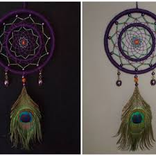 Double Dream Catchers 100 inch Purple and Green Dream Catcher from WindalaCrafts on Etsy 65