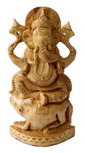 hand made indian wooden hand carved lord ganesha s