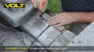 How To Install Low Voltage Lighting Transformer How To Install An Undercover Hardscape Light Volt