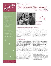 Newletter Formats Family Newsletter Template In Word And Pdf Formats
