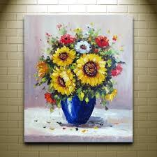 handpainted beautiful flower oil painting modern art canvas painting house painting western decor abstract techniques
