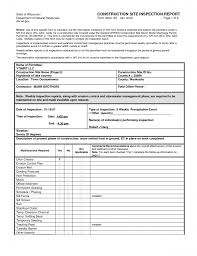 Construction Daily Report Sample Job Template Contractor Site