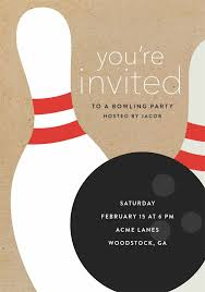 Bowling Party Invitation Bowling Party Invitations In Brown In 2019 Invitation Cards