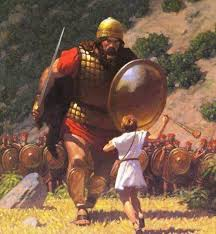 Image result for pictures of david and goliath