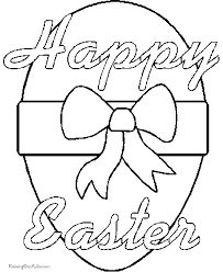 Happy Easter Egg Coloring Page 003
