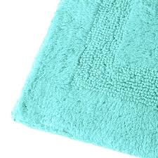 aqua bath rug oval rugs trends and blue cotton mat thick plush baby