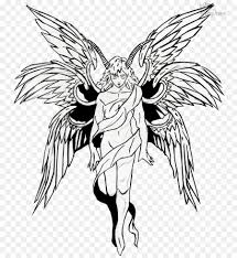 Angel Sketch Black And White Flower Clipart Drawing Sketch Angel