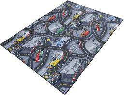 kids carpet rug disney cars carpet rug street play carpet rug color grey size 165x220 cm