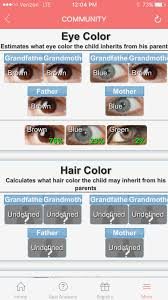 Hair Color Dominance Chart
