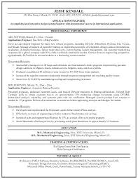 Objective Of Mechanical Engineer In Resume