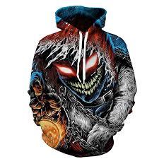 SLTX <b>3D Hoodies 3D</b> Printed <b>Sweatshirt</b> Snow Lion <b>Skull Hoodies</b>