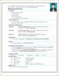 Resume Format Doc For Fresher Therpgmovie