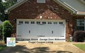 DIY Garage Door Makeover Easy Chep and Affordable