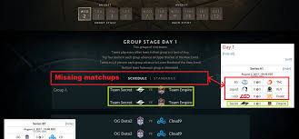 reddit dota 2 on twitter psa official ti7 group stage schedule