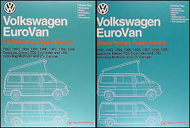 vw transporter eurovan bus repair shop manual related items