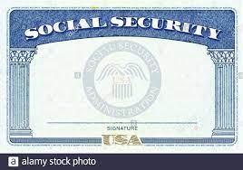Leere amerikanischen Social Security ...