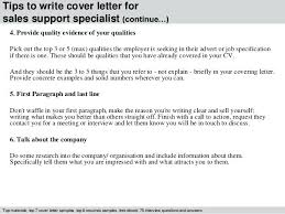 Support Specialist Cover Letter 4 Tips To Write Cover Letter For ...