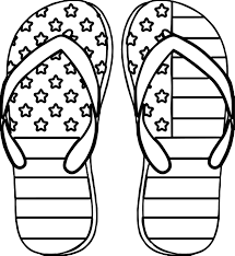 Small Picture 4th July Slipper Coloring Page Wecoloringpage