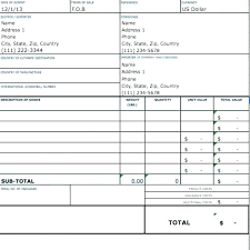 Performa Format Proforma Invoice Sample Example Form Commercial Receipt
