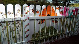 best unique colour fence small garden fence painting ideas