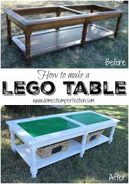 how to turn an old coffee table or anything really into a lego