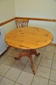 round pine kitchen table 100 cm wide