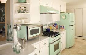 vintage style appliances with modern features inspire a kitchen makeover