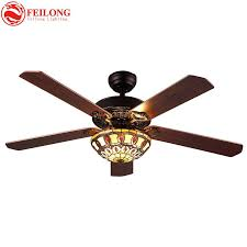 ful glass shade 52 inch brown wood blades ceiling fans lights vintage tiffany stained glass flowers downlight ceiling fans from samanthe 617 91 dhgate
