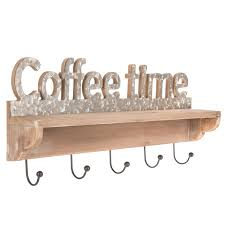 We have a buying guide listed for the best coffee mug wall mounts available in the 2020 marketplace. Coffee Time Wood Wall Shelf With Hooks Hobby Lobby 1647031