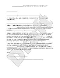 30 day eviction notice forms eviction notice form 30 day notice to vacate letter to tenant