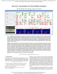 Tennis Match Charting Software Pdf Tennivis Visualization For Tennis Match Analysis