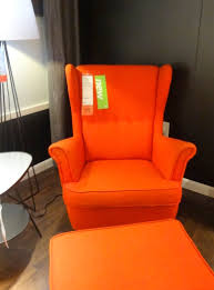 Home Decor Accent Furniture Furniture Amazing Orange Accent Chairs Ikea With Ottoman For 47