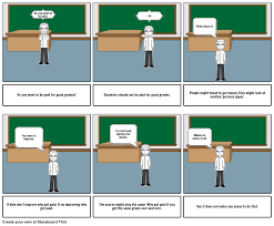 students should not be paid for good grades storyboard