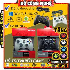 Tay Cầm Xbox 360 Có Rung Kết Nối Được Với PC, Điện Thoại Android, Laptop,  TV, PS3 Và Có Nhiều Màu - Phụ kiện Gaming