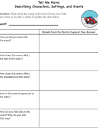 Rl 4 1 Anchor Chart Tell Me More Characters Settings And Events Lesson Plan