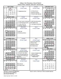 180 Days Of School Chart About Us General District Information Salinas City