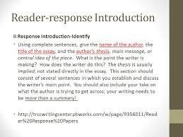 essay response format response essay remember critical essay reader response essay reading is thinking best 25 step response