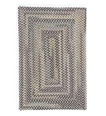 bear creek rectangular braided wool blend rug