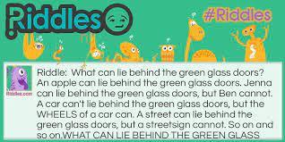 what lies behind the green glass doors