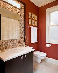 Best Paint Color For Small Bathroom Rust Colored Bathroom - Well chosen,  soft furnishings are